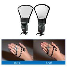 Mini Camera Flash Diffuser Softbox Silver/White Reflector For Canon Nikon M44