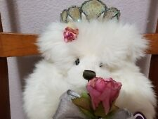 """Rose Princess"" White Plush Collectible Bear – Annette Funicello W/Box COA"