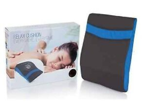 Relax Massage Cushion Vibrating Pillow Portable Car Seat Back Stress Pain Relief