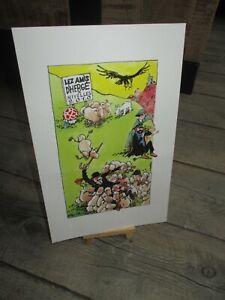 Hergé & F murr-Ex Libris grand format(27 cm)250 exemplaires-Dessin F murr(2010)