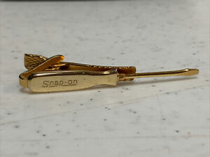 1950's Snap-On Screwdriver Gold Tone Tie Clasp Clip, Leavens Co