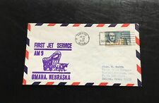 Omaha Nebraska First Jet Service 1985 Cover Airport Mail Facility Cancel