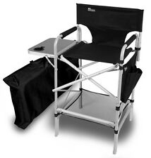 PROFESSIONAL MAKEUP ARTISTS Tall Directors Chair w/Side Table,Zippered Carry Bag