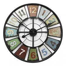 New Round 60cm Metal Numbers Wall Vintage Industrial Clock AU