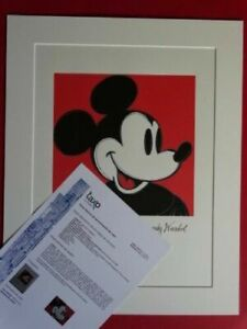 ANDY WARHOL, Mickey Mouse SIGNED AND HAND NUMBERED LITHOGRAPH