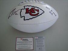 Eric Fisher Autographed Chiefs Logo Football   Fanatics