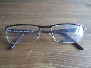 Safilo design burgundy glasses frames.SD 249.
