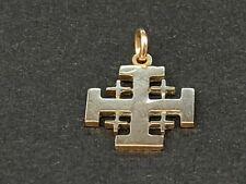 More details for a hand made pierced jerusalem crusaders knights templar gold cross 2 grams.
