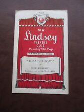 1947 NEW LINDSEY THEATRE CLUB MORE TOBACCO ROAD THEATRE PROGRAMME
