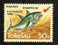 Tokelau Stamp - 110 with additional overprint for Stampex 86 Stamp - NH