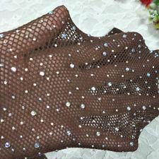 097c012c679d6 Women's Sexy Fishnet Crystal Rhinestone Tights Suspender Stockings Garter