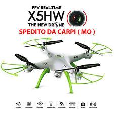 SYMA X5HW WIFI FPV RC QUADCOPTER DRONE RTF 2.0MPCAMERA CF HOVER 3D BIANCO D6Z6