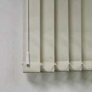 "Cream Blackout Louvres 3.5"" Vertical Blind Replacement Slats"