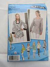 Simplicity Project Runway Pattern 2930 Tunic with neck & sleeve variations UNCUT