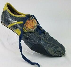 Kowalski Shoes Retro Bowling Fashion Sneakers Distressed Leather US 12 NWOB
