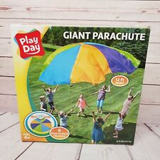 Play Day Giant Parachute 12 Feet Wide 8 Handles Kids