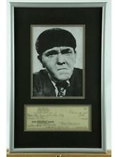 """""""Three Stooges"""" Moe Howard Photo With Check Lot 142"""