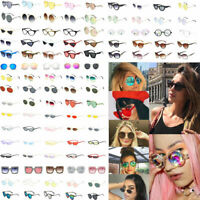 Unisex Women Sunglasses Ellipse Frame Vintage Glasses Trendy Fashion Retro Shade
