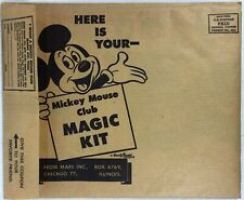 Mickey Mouse Club UNUSED AND COMPLETE  PUNCHOUT MAGIC KIT,ADV MARS CANDY