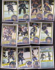 1984 OPC Team LOT of 12 St. Louis BLUES NM/MT o-pee-chee FEDERKO LIUT SUTTER