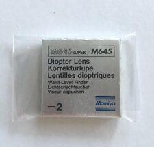 MAMIYA M645 / M645 Super -2 Diopter lens for Waist level finder Korrekturlupe