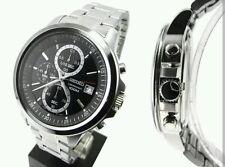 Seiko Men's Chrono Black Dial Stainless Steel Bracelet Watch - SKS445P1. New