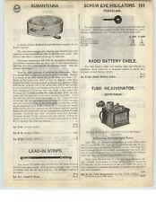 1926 PAPER AD Jefferson Radio Paralyzed Tube Rejuvenator E-201 E-301A E-UV199