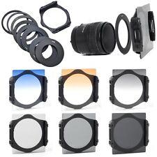 9pcs Ring Adapter + 6pcs ND 2 4 8 Gradual Grey Orange Blue Filter for Cokin P