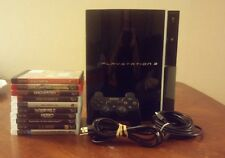Sony Fat PlayStation 3 Bundle 10 games free shipping tested 80 GB