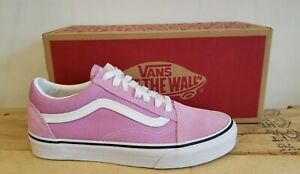 Vans Classic Old Skool Pink Orchid Suede Skateboarding Lifestyle Shoes for Women