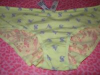 Victoria's Secret Ruched Back Hiphugger Panties Yellow Sexy Floral X-S S M L