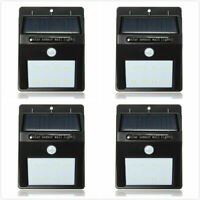 Outdoor Solar Lights Motion Sensor Wall Light Waterproof Garden Yard Lamp 8 LED
