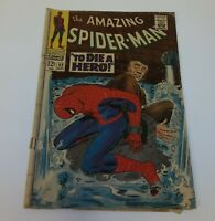 The Amazing Spider Man To Die A Hero 52 Sept 1967 Comic Book