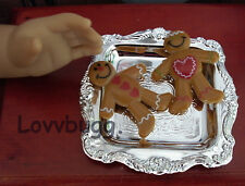 "Gingerbread Men on Tray Food for 18"" American Girl Doll Widest Selection Online!"