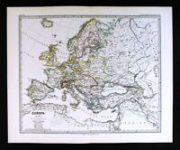 1880 Spruner Map - Europe 1740  Austria France Spain Germany Italy Russia Greece