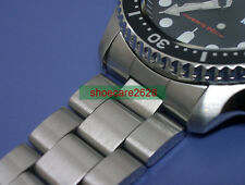 22 mm Oyster en acier inoxydable solide bracelet de plongée SKX007 Double Safe Lock Buckle