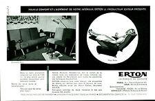 """Publicité Ancienne """" Fauteuils Relax ERTON   1957 """" ( P. 26 )"""