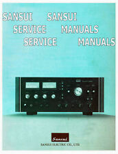 SANSUI INSTRUCTION SERVICE MANUALS  REPAIR MANUALS AUDIO HIFI VINTAGE PDF CD