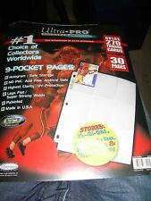 ULTRA PRO 9 POCKET PACKET OF 30 PAGES FOR NRL CARDS.