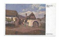 """Künstlerkarte von Siegfried Stoitzner, """"Ober Arnsdorf in der Wachau"""""""