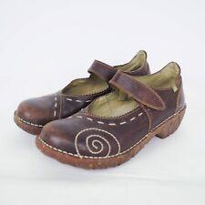 El Naturalista Womens Mary Jane Sz 37 US 7 Iggdrasil Brown Leather Comfort