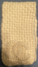 CHANEL White Scarf Shawl Wrap Alpaca Wool Silk Woven Knit Made In Italy Warm Ds