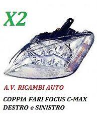 COPPIA FARI FANALE PROIETTORE ANTERIORE SX-DX FORD FOCUS C-MAX DAL 2003 AL 2007