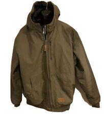 Schmidt Mens Workwear Canvas Hooded Zipper Insulated Jacket 2 XL TALL MINT