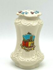 "Antique Hatpin Holder Darling Crested Embossed. ""Sawston"". Collectible"
