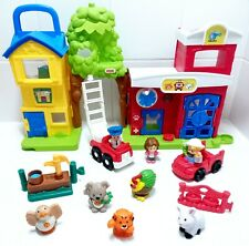 Little People Toy Bundle - Animal Rescue Barn, Vehicles, Animals & Figures