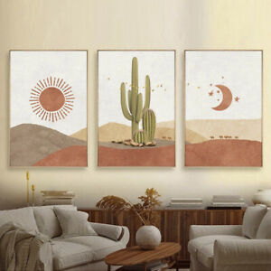 Sun Moon Canvas Wall Art Painting Poster Nordic Abstract Landscape Wall Picture
