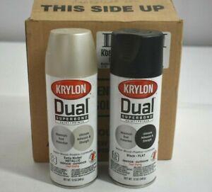 Lot of 6 Krylon Dual Superbond Paint & Primer Aerosol Spray Paint 12 oz Cans