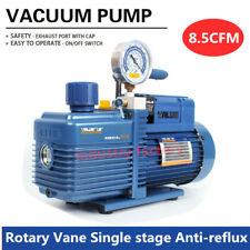 Bomba de vacío 8.5CFM 2Pa 4L//s Anti-reflujo Rotary Vane 3//4HP 1 etapa de refrigeración