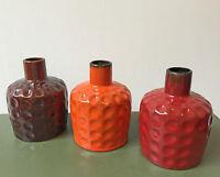 Sooo schöne Vasen 03 Melitta.Ceracron.Rot Orange Braun.German Pottery!Ceramics!